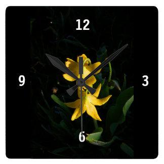 Square Acrylic Glacier Lily Clock
