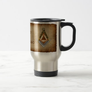 Square and Compass All Seeing Eye Stainless Steel Travel Mug