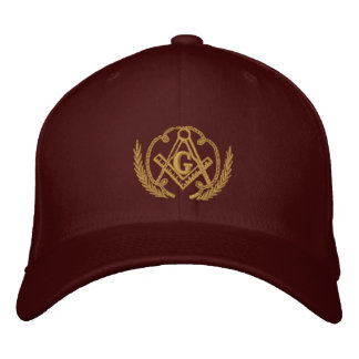 Square and Compass Embroidered Hat