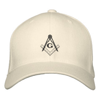 Square and Compass Hat Embroidered Cap