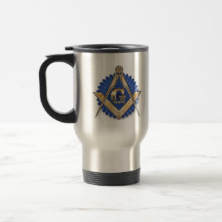 Square and Compass Stainless Steel Travel Mug