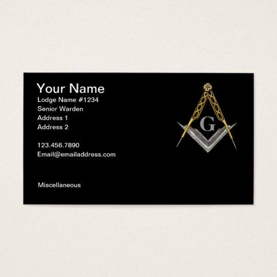 Square and Compass with All Seeing Eye Business