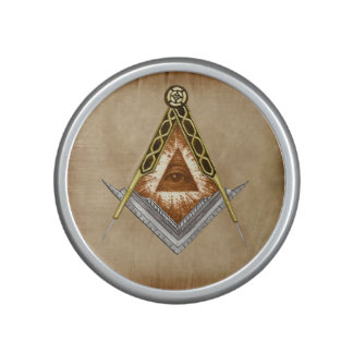 Square and Compass with All Seeing Eye Bluetooth Speaker