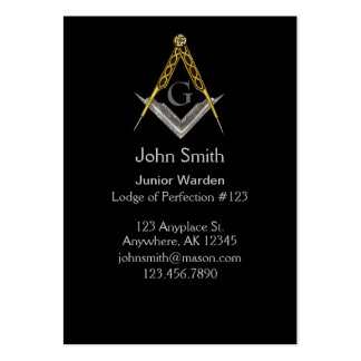 Square and Compass with All Seeing Eye Pack Of Chubby Business Cards