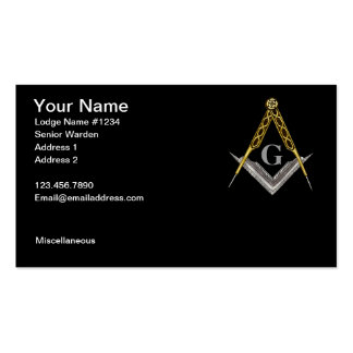 Square and Compass with All Seeing Eye Pack Of Standard Business Cards