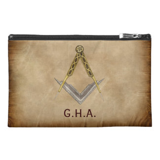 Square and Compass with All Seeing Eye Travel Accessory Bag