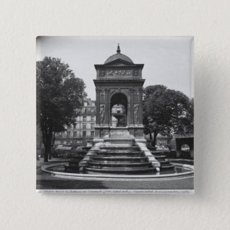 Square and fountain of Innocents, 1547 15 Cm Square Badge