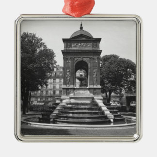 Square and fountain of Innocents, 1547 Silver-Colored Square Decoration