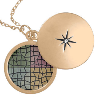 Square and triangle mosaic pattern lockets