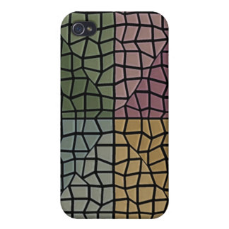 Square and triangle mosaic pern iPhone 4 cover