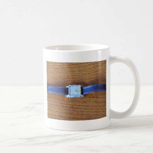 Square Art Deco Watch Mugs
