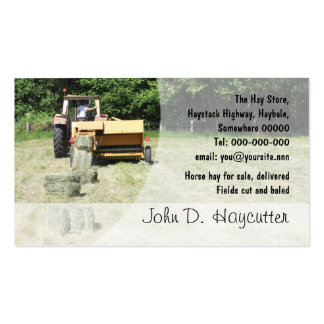 Square baler business card