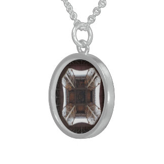 Square Base - Small Sterling Silver Round Necklace
