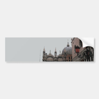 Square & Basilica of St Mark Bumper Sticker