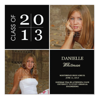 Square Blocks Graduation Announcements Invitations