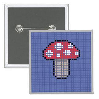 Square Blocky Mushroom badge