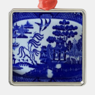 Square Blue Willow Ornament Lights Up Your Tree