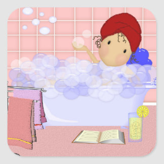 Square Bubble Bath Stickers