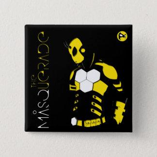 Square Button 2 inch Masquerade Cover