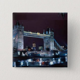 Square Button - London Bridge at Night