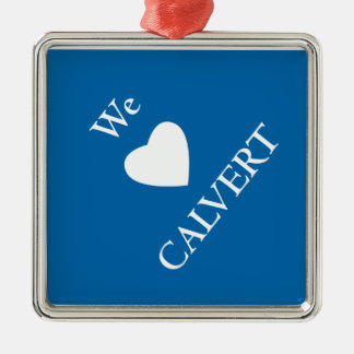 Square Calvert Holiday Ornament