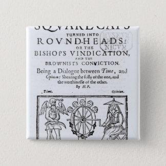 Square-Caps turned into Round Heads, 1642 15 Cm Square Badge