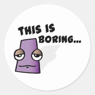 Square Cartoons Round Sticker