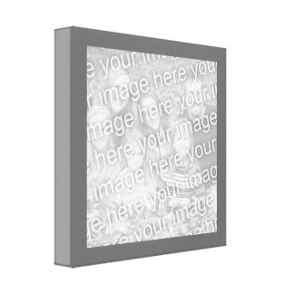 Square Charcoal Border Photo Canvas Print