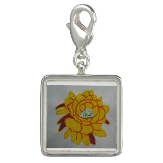 Square Charm, Silver Plated