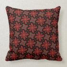 Square cushion Jimette Design red grey and black.