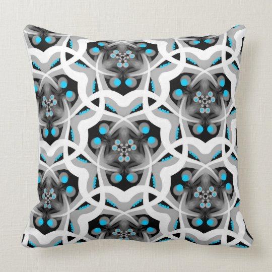 Square cushion Jimette white gray turquoise Design