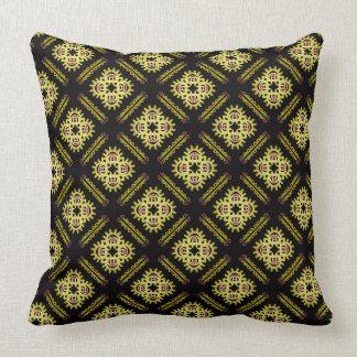 Square cushion Jimette yellow Design on black