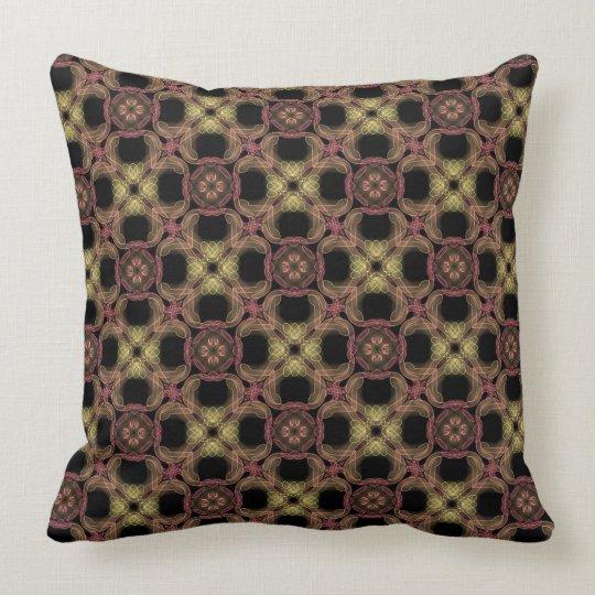 Square cushion Jimette yellow orange brown Design