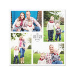 Square Custom Family 4-Photo Canvas Gallery Wrap Canvas