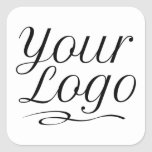 Square Custom Product Label Stickers Company Logo