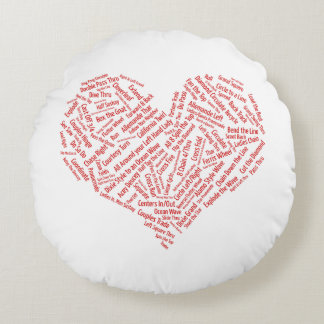 Square Dance Calls Heart Round Cushion