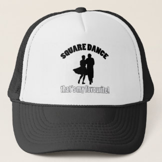 square dance designs trucker hat