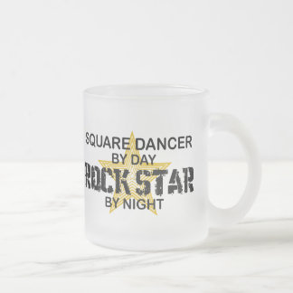 Square Dancer Rock Star by Night Frosted Glass Mug