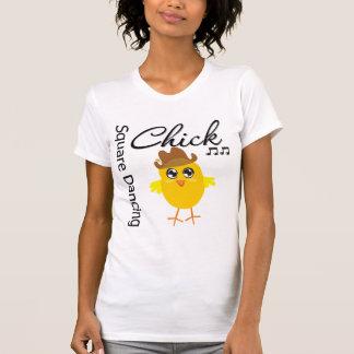 Square Dancing Chick Tshirt