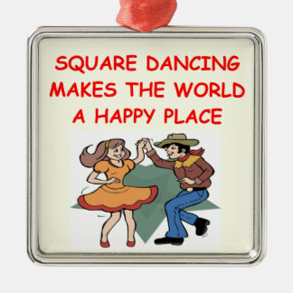 square dancing christmas ornament