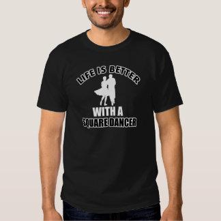 Square dancing designs tee shirt