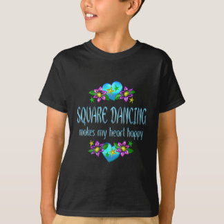 Square Dancing Heart Happy Tee Shirts