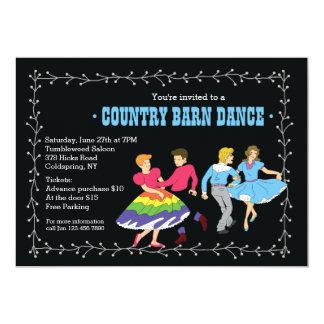 Square Dancing Partners Invitation