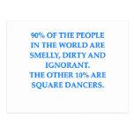 square dancing post card