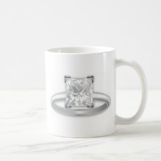 Square Diamond Ring Basic White Mug