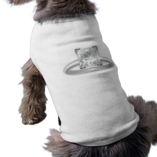 Square Diamond Ring Sleeveless Dog Shirt