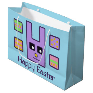 Square Easter Bunny Gift Bag (Large)