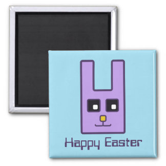 Square Easter Bunny Magnet