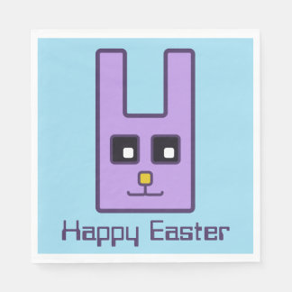 Square Easter Bunny Napkins Disposable Napkin