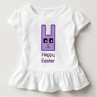 Square Easter Bunny Toddler Ruffle T-Shirt